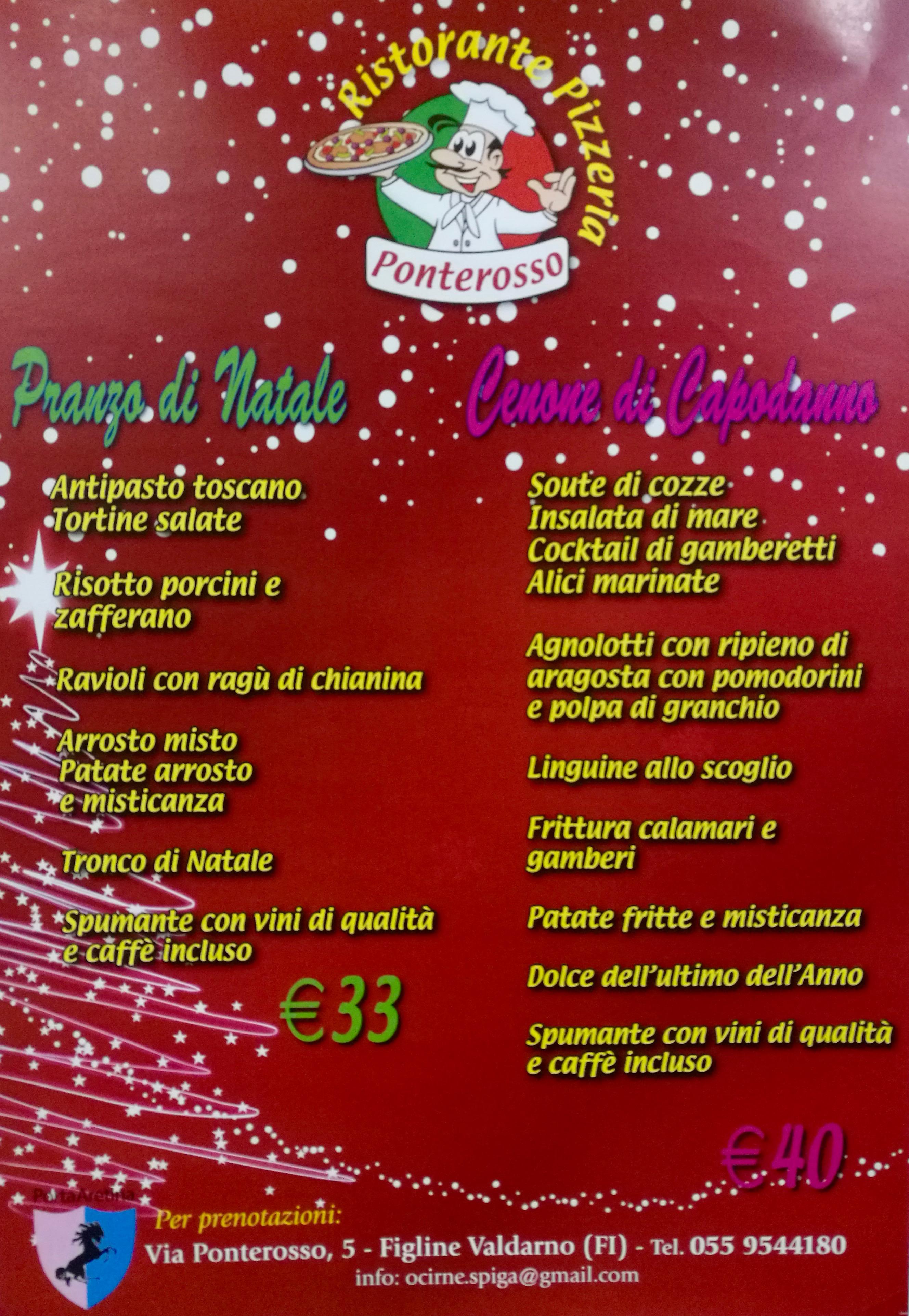 Immagini Natale E Capodanno.Natale E Capodanno Al Ristorante Pizzeria Ponterosso