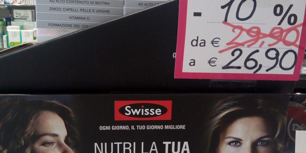 Promo SWISSE 10 E LODE alla Farmacia Petrarca